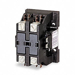 208/240VAC Definite Purpose Contactor&#x3b; No. of Poles 2, Reversing: No, 40 Full Load Amps-Inductive
