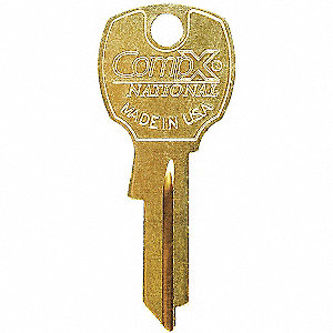 Key Blank,For 4DED5,Bright Brass