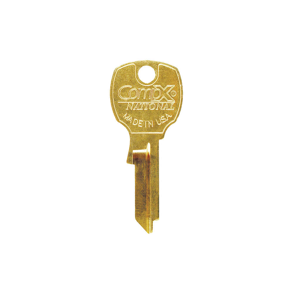 Key Blank, For Use With Compx C8710 - C8735 Mailbox Locks, CompX National,  Brass