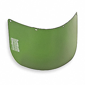 Faceshield Visor,Prpinate,DkGrn,8x15-1/2