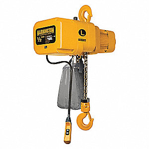 Electric Chain Hoist,1000 lb.,20 ft.