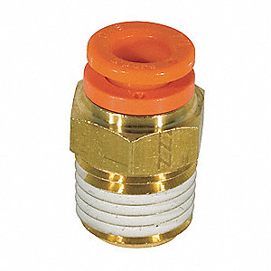 "Brass Male Adapter, 3/8"" Tube Size"