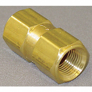 "3/8"" Poppet Spring Check Valve, Brass, FNPT Connection Type"