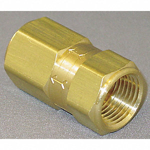 "1/2"" Poppet Spring Check Valve, Brass, FNPT Connection Type"