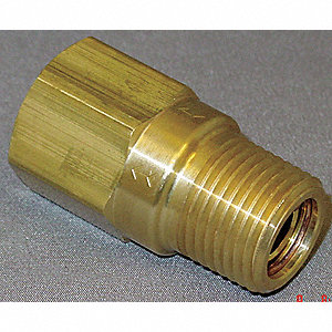 "1/8"" Piston Spring Check Valve, Brass, FNPT x MNPT Connection Type"