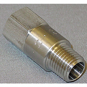 "1/4"" Piston Spring Check Valve, Stainless Steel, MNPT x FNPT Connection Type"