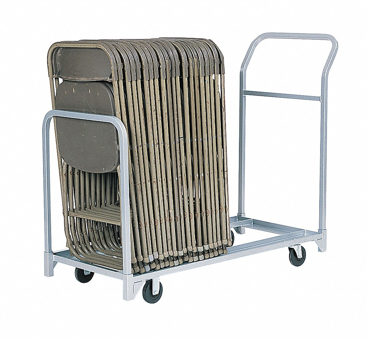 Cart for Folding & Stacking Chairs,  300 lb Load Capacity,  For Max. Number of Chairs 24