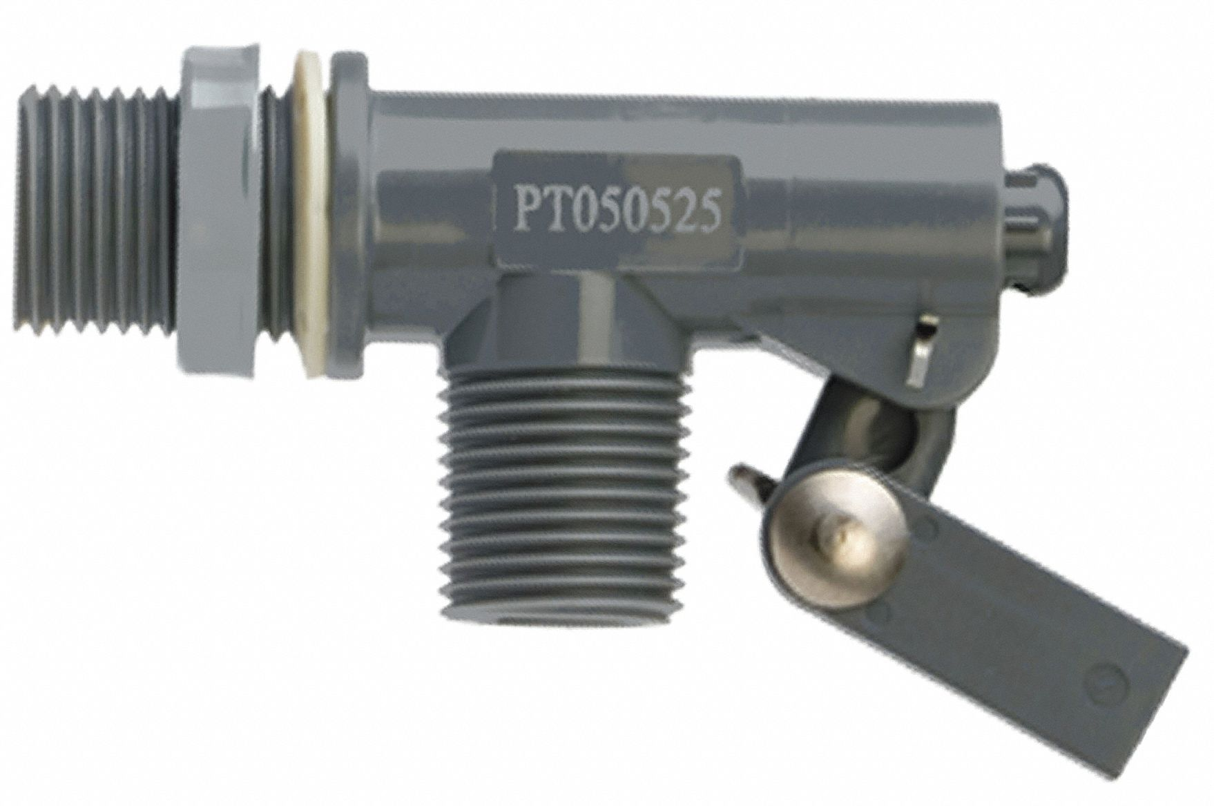Float Valve with Threaded Outlet,  1/2 in,  MNPT,  PVC