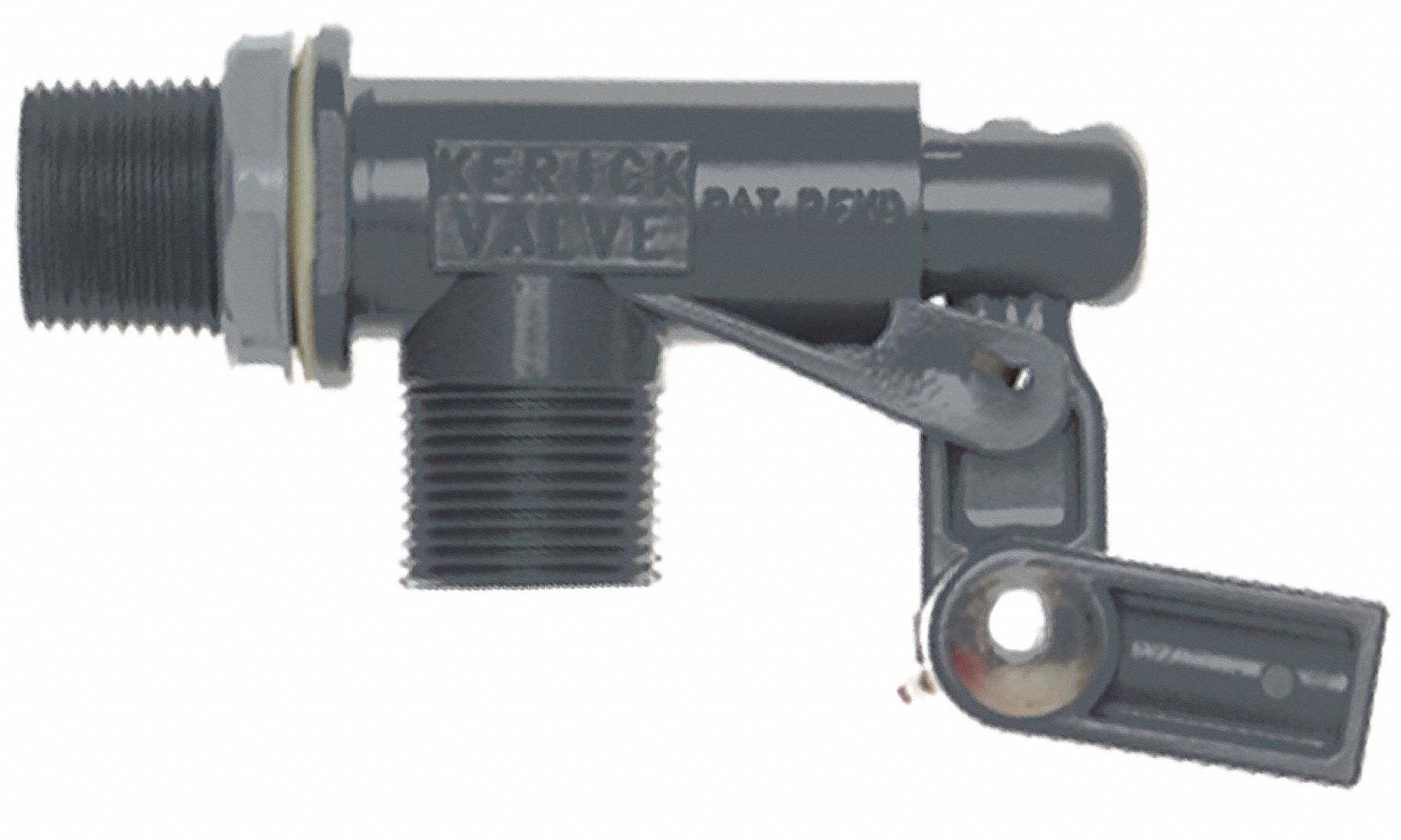 Float Valve with Threaded Outlet,  3/4 in,  MNPT,  PVC