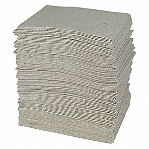 "19"" x 15"" Heavy Absorbent Pad for Universal/Maintenance, Gray&#x3b; PK100"