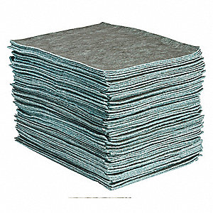 "19"" x 15"" Heavy Absorbent Pad for Universal, Gray, 100PK"