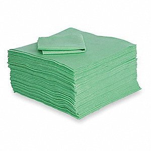 "18"" x 18"" Heavy Absorbent Pad for Universal / Maintenance, Green&#x3b; PK100"