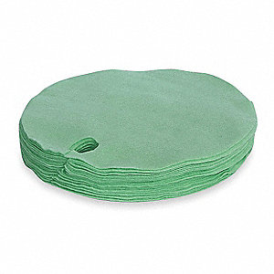 "22"" Light Drum Top Absorbent Pad for Universal / Maintenance, Green&#x3b; PK25"