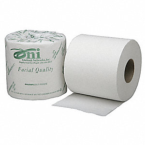 Toilet Paper,White,Size 4 x 4 In.,PK80