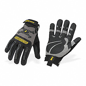 Anti-Vibration Gloves, Duraclad/Synthetic Leather Palm Material, Black/Gray, XL, PR 1