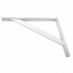 Shelf Bracket,White,Heavy Duty,500 Lb