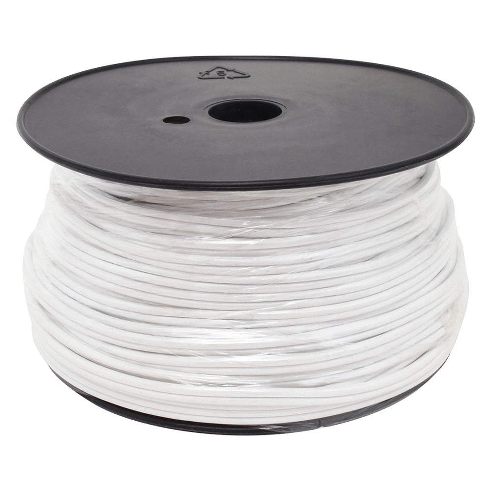 GRAINGER APPROVED 16 AWG Wire Size Lamp Cord, White - 4DPE1|E3684 ...