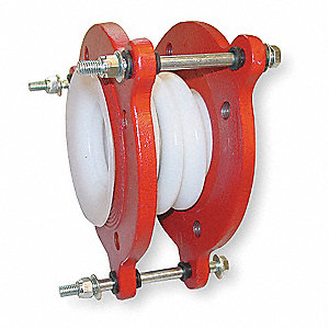 "1-1/2"" Pipe Size Double Sphere PTFE Expansion Joint, -40 To 400 Deg F Temp. Range"