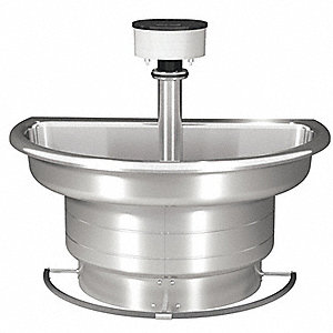 "42-3/8""H 3-Person Wash Fountain, Foot Bar Operation Type"