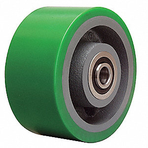 "6"" Caster Wheel, 2200 lb. Load Rating, Wheel Width 3"", Polyurethane, Fits Axle Dia. 3/4"""