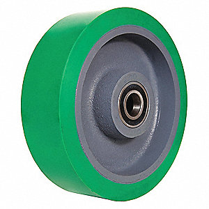 "10"" Caster Wheel, 3000 lb. Load Rating, Wheel Width 3"", Polyurethane, Fits Axle Dia. 3/4"""