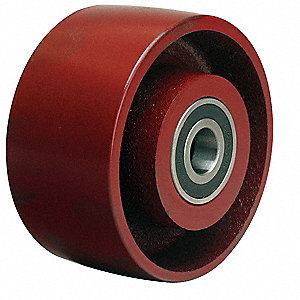 "4"" Caster Wheel, 1000 lb. Load Rating, Wheel Width 2"", Cast Iron, Fits Axle 1/2"""