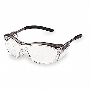 Clear Anti-Fog Bifocal Safety Reading Glasses, +2.0 Diopter