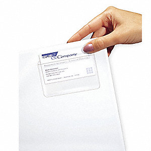 "2"" x 3-1/2"" PVC-free Poly Top Load Business Card Holder, Clear&#x3b; PK10"