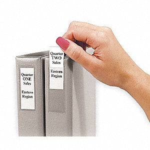 "Self Adhesive Binder Label Holder, Clear, 3/4"" x 2-1/2"", 12 PK"