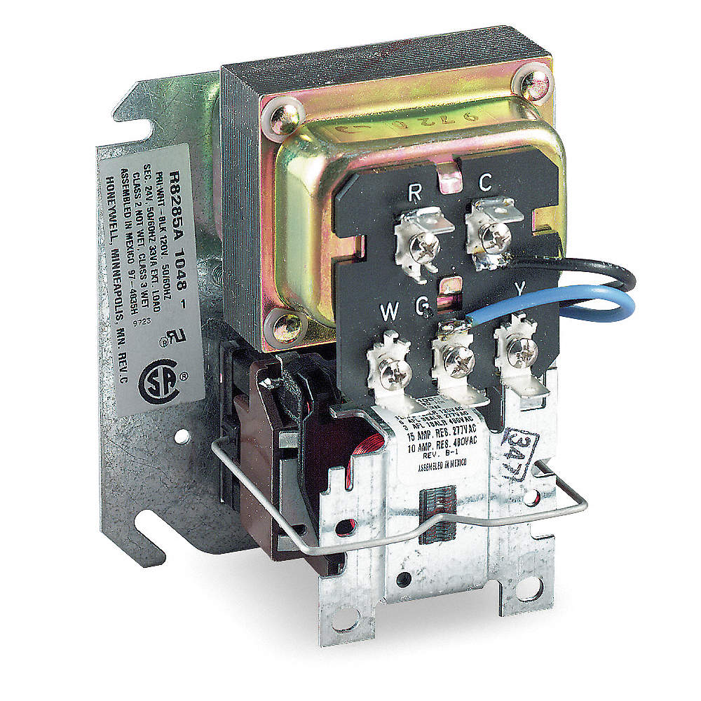 Transformer Relay, 4x4 Junction Box Mount, 24 Coil Volts, SPDT, 3/4 on