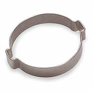 Crimp, 2-Ear Hose Steel Hose Clamp