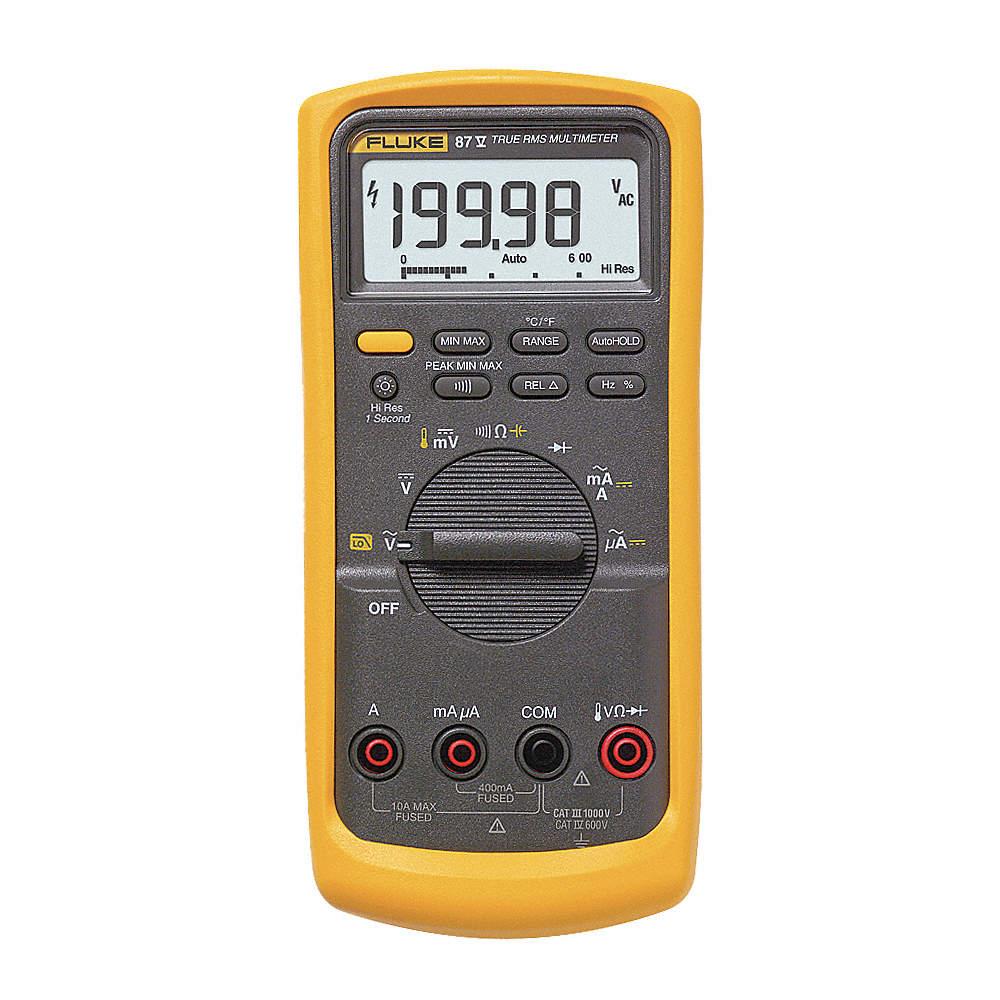 FLUKE (R) Fluke-87-V Full Size - Advanced Features Digital Multimeter,  Instrument Counts: 6000/19,99