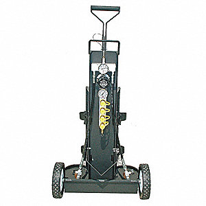 Air Cylinder Cart,2 Cylinders,4500 psi