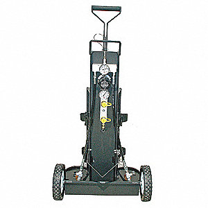 Air Cylinder Cart,2 Cylinders,2400 psi