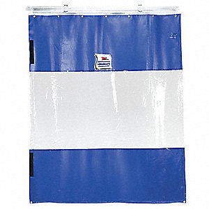 Blue Curtain Wall, Universal Mount Mounting, 6 ft. Width, 8 ft. Height