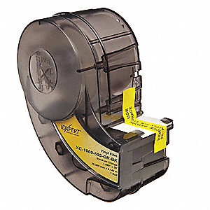 "Indoor/Outdoor Vinyl Film Label Tape Cartridge, Black/White, 1/2""W x 30 ft."