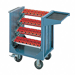 "36-1/2""H x 20""W Steel Tool Transporter, 2400 lb. Load Capacity, Total Number of Bins: 4"