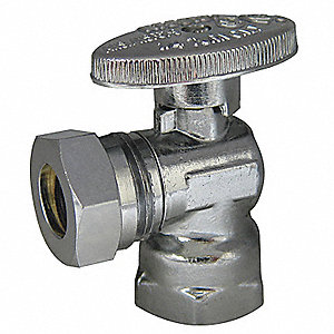WATER SUPPLY STOP,ANGLE,1/2 IN,FIP