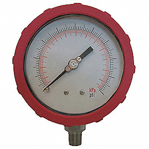 "4"" Test Pressure Gauge, 0 to 30 psi"