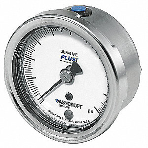 Pressure Gauge,0 to 300 psi,2-1/2In