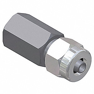 Female Adapter,1 x 1/2 In,Npt x Tube