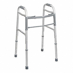 "Adult Walker, 32 to 39"" Height, Silver"