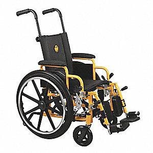 Wheelchair,250lb,14 In Seat,Yellow/Black