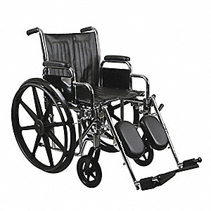 Wheelchair,300lb,18 In Seat,Silver/Black