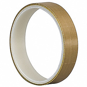 "Light-Duty Slick-Surface Tape, 1/2"" X 1/2"", 4.70 mil Thick, Brown Coated Cloth, 64 PK"