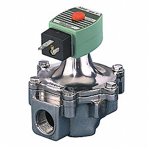 "1"" Aluminum Air and Fuel Gas Solenoid Valve, Normally Closed"