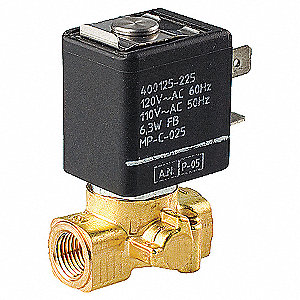 SOLENOID VALVE,1/8 IN,ORIFICE 7/64