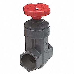 "Socket Gate Valve, Inlet to Outlet Length: 2-9/32"", Pipe Size: 3/4"", Max. Fluid Temp.: 140°F"