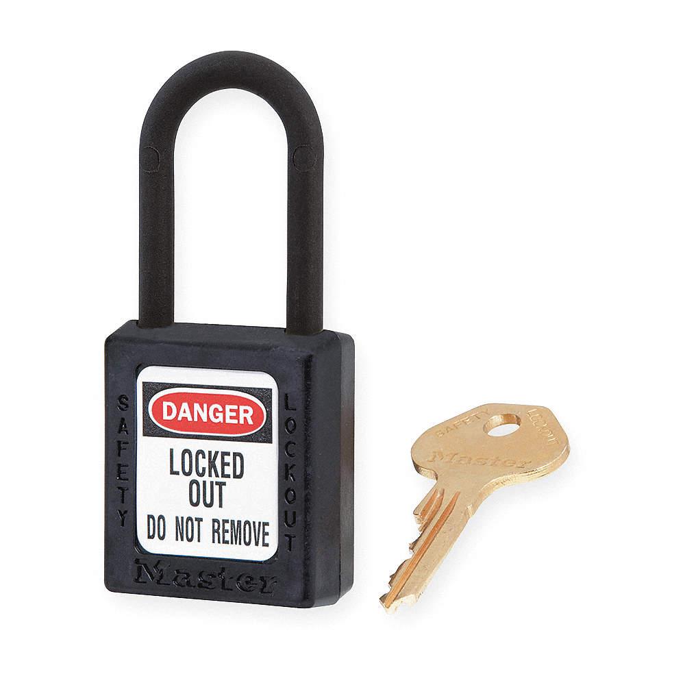 "Standards: Osha Abus 74//40 Kd Black Lockout Padlock Kd 1-3//4/""H Black"