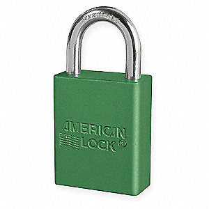 Green Lockout Padlock, Alike Key Type, Master Keyed: No, Aluminum Body Material